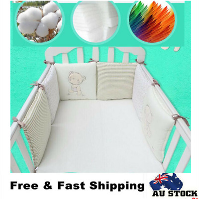 6Pcs Baby Crib Bed Bumper Cot Bedding Set For Infant Newborns Toddler Nusery AU