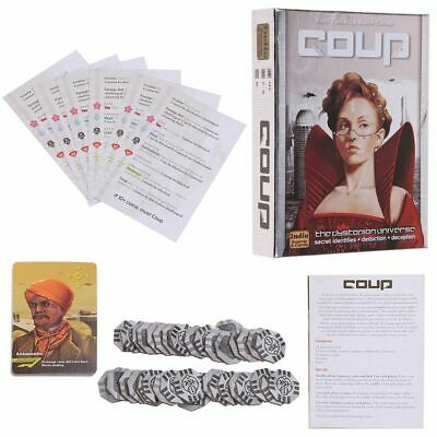 Coup Card Game Full English Version Basic Game Board Game Family Party Game XX