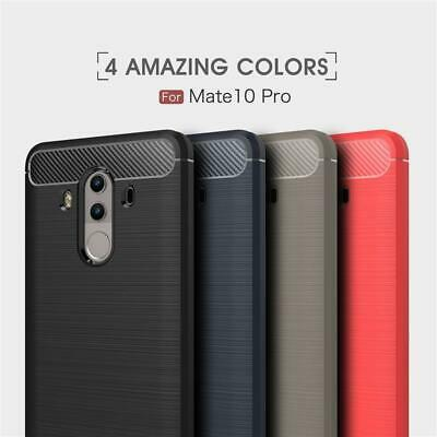 Luxury Shockproof Carbon Fiber Hybrid Soft TPU Case Cover For Huawei Cell Phones