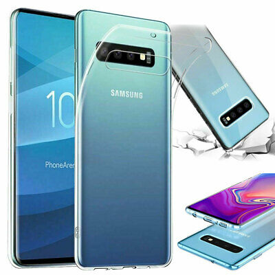 Ultra Thin Soft Silicone Gel Clear Case Cover for Samsung Galaxy S10 / S10+ Plus
