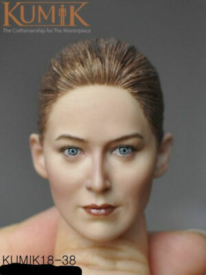 "1/6 KUMIK Short Hair Female Painted Head Sculpt KM-18-38 F 12"" Action Figure Toy"