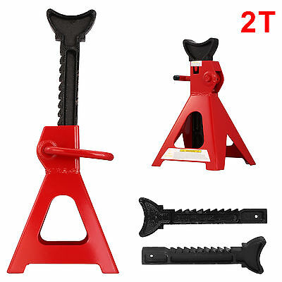HEAVY DUTY 2 Ton AXLE STANDS LIFTING CAPACITY STAND CAR CARAVAN RED BLACK PAIRS