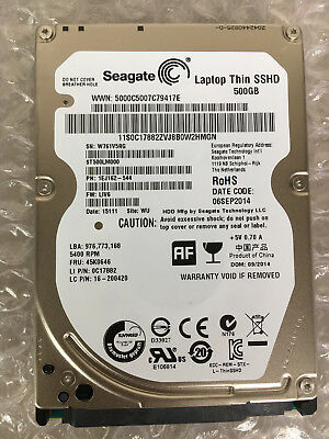 "2.5""SATA Seagate ST500LM000 500GB Laptop 7mm SSHD Solid State Hybrid Hard Drive"
