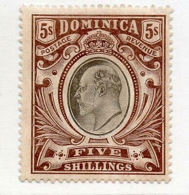Dominica EDVII 5s MM 1908 SG46 Cat £75