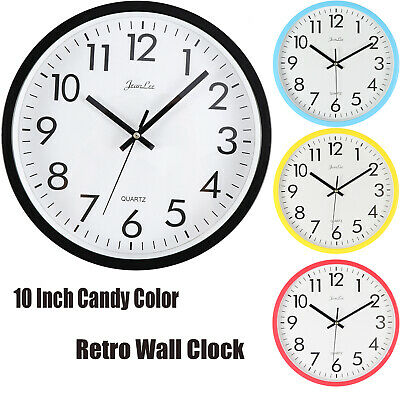 30cm Large Round Wall Clock With Quartz Movement Marble Silent Clocks for Home