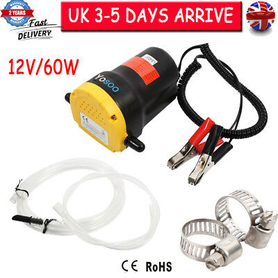 12V Mini Electric Diesel Oil Fluid Transfer Extractor Pump Siphon Car Boat Fuel