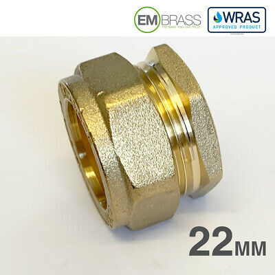 Reducing Tee 22mm x 22mm x 15mm Compression WRAS Approved Heavy Pattern Embrass