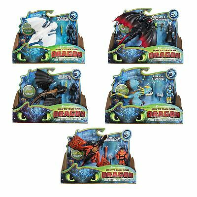 DreamWorks How To Train Your Dragon Dragon & Viking Playset Figures