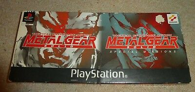 PS1 Metal Gear Solid twin pack long box special missions MGS platinum Double
