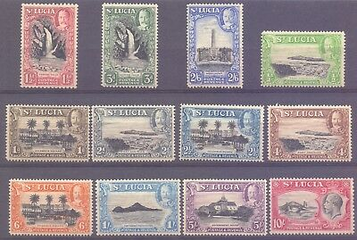 8/5.st.lucia,1936 #95-106 Mnh(Possibly Regummed)