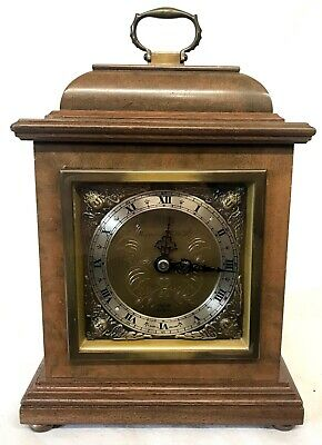 ELLIOTT LONDON Burr Walnut Bracket Mantel Clock Mappin & Webb Ltd