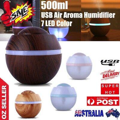Essential Oil Aroma Diffuser 500ML LED  Color Changing Humidifier Mist Home