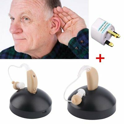 Rechargeable Mini Hearing Aids Sound Voice Amplifier Low Noise Behind The Ear EL