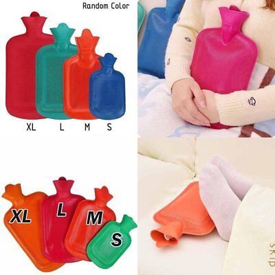 2 Liters Large Classic Rubber Hot Water Bottle Bag Warm Cold Heat Therapy UK