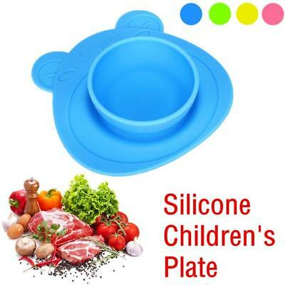 Kids One Piece Silicone Placemat Plate Dish Food Tray Table for Baby Toddler