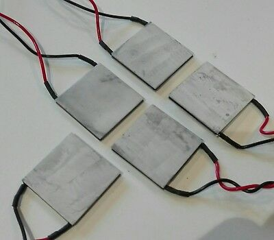Pack of 5 TE Tech. Thermoelectric, HP 127-1.0-0.8P, Qmax 56W @ 5.8 amps