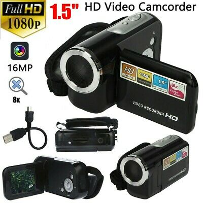 FULL HD 1080P 16MP 1.5'' LCD 4X ZOOM Handheld Digital Video DV Camera Camcorder