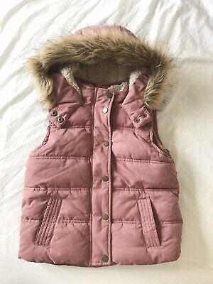 Fatface Gilet Pink Girls Age 4/5 Years