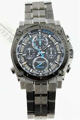 Bulova Men's 98B229 Precisionist Japanese Quartz Grey Watch Scratch Crystal