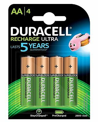 Duracell 8 Piles Rechargeables 4 x AA 2500 mAh + 4 x AAA 900 mAh NEUVES