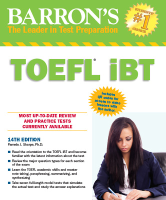 Complete TOEFL preparation guide (Barrons, Longman, iBT) TOEFL course