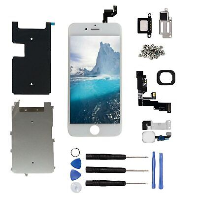 For iPhone 6S LCD Display Screen Touch Digitizer Assembly Replacement White UK