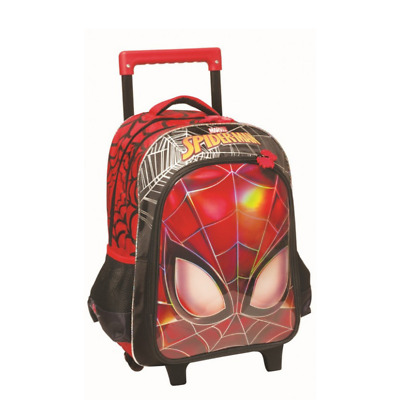 Elementary trolley school bag Spiderman Face Foiled  Surface High Quality NEW
