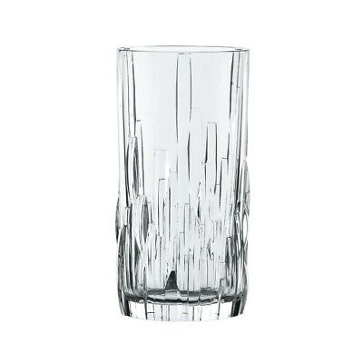 Shu Fa Crystal Long Drink Glass Set of 4 Whisky Highball Clear Glasses 12.6 oz.