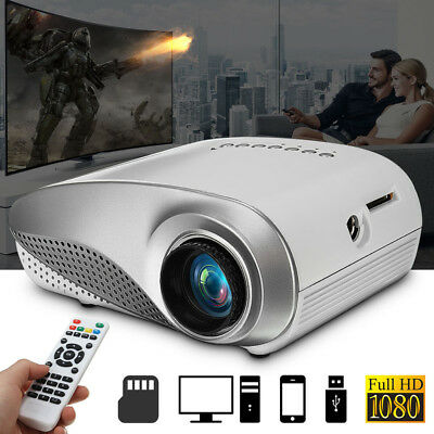 3D Full HD 1080P Mini Projector LED Multimedia Home Theater USB VGA HDMI TV