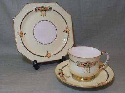 Vintage Paragon Art Deco Bone China Trio Tea Cup Saucer & Side Plate 4783