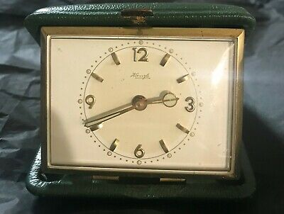 Kienzle Personal Old Travel Alarm Clock Mechanical Vintage 1930
