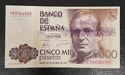 Billete 5000 Pesetas 1979 Error Banco España Calcado