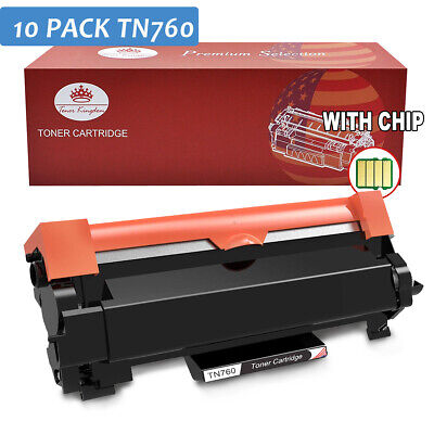 10PK TN760 TN730 Toner with Chip for Brother DCP-L2550DW MFC-L2730DW HL-L2350DW