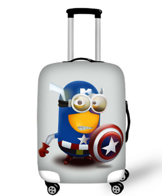 cover cute minions prints cover high elastic spandex luggage cover suit case
