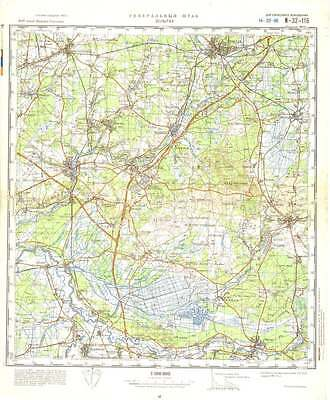 Topographical Map Of Germany.Russian Soviet Military Topographic Maps Soltau Germany 1 100