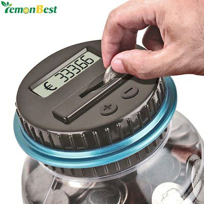 Piggy Bank Counter Coin Electronic Digital LCD Counting coin Money Saving Box