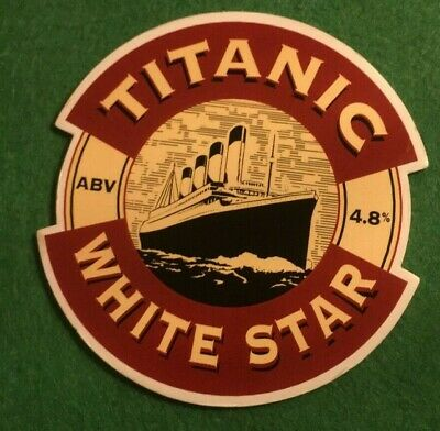 Beer Ale Pump Clip - Titanic  Brewery White Star   - Man Cave  (Ii19)