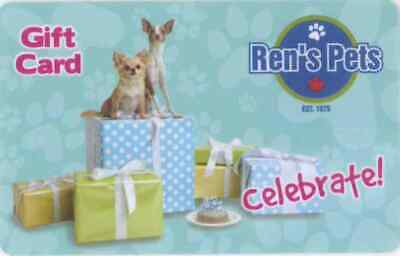 Gift Card: Ren's Pets Depot (Canada) Birthday Two Dogs/Gifts, celebrate!, $0.00