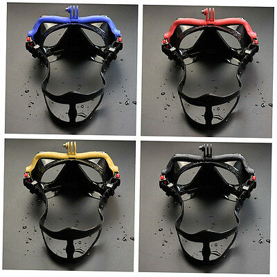 Underwater Camera Plain Diving Mask Scuba Snorkel Swimming Goggles for GoPro D∨