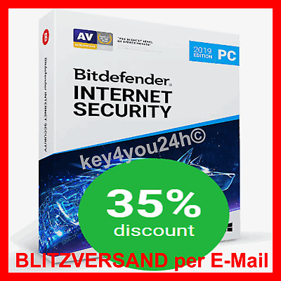 💥 Bitdefender INTERNET Security 2019 ✳️ 180 Tage 3PC ✳️ Email BLITZVERSAND ✅
