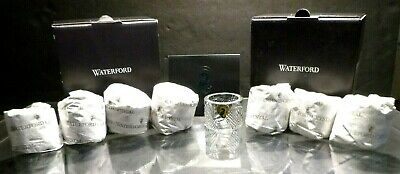 *NEW* Waterford Crystal SEAHORSE (2002-) Set of 8 Napkin Rings NEW IN THE BOX