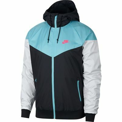 784ac7ac784 NIKE SPORTSWEAR WINDRUNNER Jacket 727324 015 Blue-Black-White-Pink (Men's  Medium