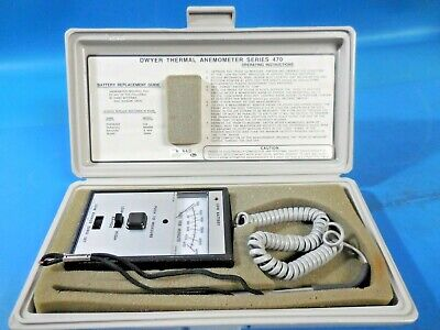 Dwyer Series 470 Thermal Anemometer with Case