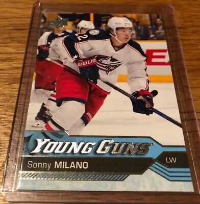 2016-17 SONNY MILANO   UPPER DECK # 228  YOUNG GUNS ROOKIE   NO-365 Blue Jackets