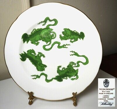 Wedgwood CHINESE TIGERS Green Salad Plate(s)  MINT!