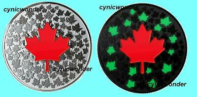 2018 Canada Hearts Aglow Glow-in-the-Dark 99.99% Pure Silver Coin Maple Leaf