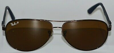 86287bf4e49 Ray Ban RB 8313 Sunglasses 014 N6 Bronze Navy Carbon Fiber Brown Polarized  61mm