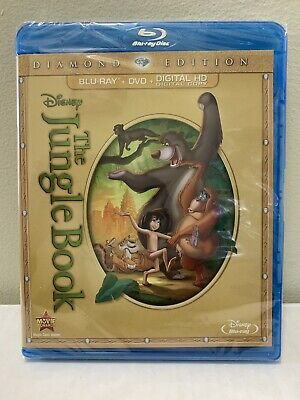 Disney The Jungle Book (Blu-ray/DVD/Digital HD) ** AUTHENTIC FACTORY SEALED **