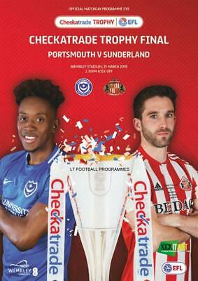 * 2019 CHECKATRADE TROPHY FINAL - PORTSMOUTH v SUNDERLAND (31st March 2019) *