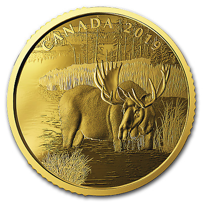 2019 Canada 1 oz Proof Gold $200 Canadian Moose - SKU#186651